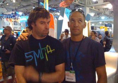 Smith Optics Marketing Director Tag Kleiner and Public Relations Director Greg Randolph