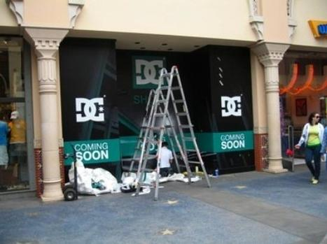 The DC store at the Irvine Spectrum before it opened.