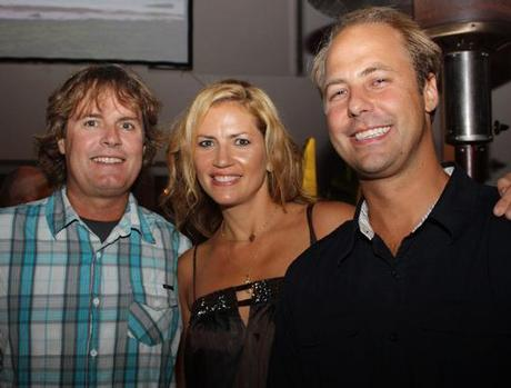 Michelle LeBlanc at Liquid Nation with Rip Curl USA CEO Kelly Gibson