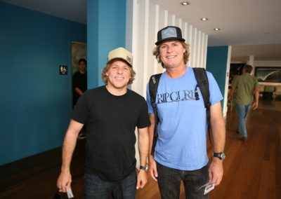 Volcom CEO Richard Woolcott and Rip Curl USA President Kelly Gibson.