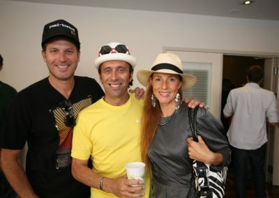 Volcom President Jason Steris with Fernando Aguerre and Florencia Gomez-Gerbi.