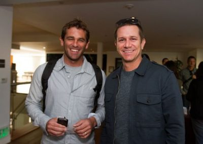 Quiksilver Chief Operating Officer Rob Colby and Taylor Whisenand of Salt Optics.