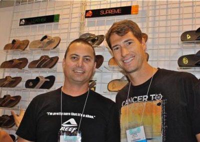 Reef Men's Footwear Product Director Brett Savage and VP of Marketing Kevin Flanagan.