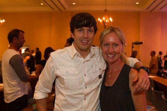 Skullcandy CEO Jeremy Andrus and Marisa Tatum of Surfline.