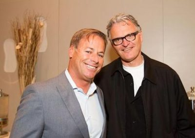 Bob Hurley and Roger Wyett at the SES Executive Roundtable. Shop-eat-surf file photo.