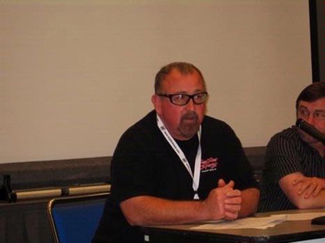 Duke Edukas of Surfside Sports at an ASR retail panel.