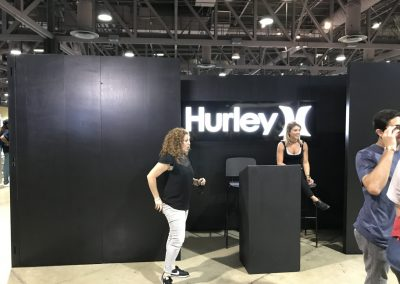 Hurley was back at Agenda with a booth