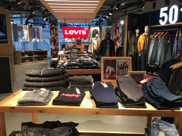 Just a small part of the huge Levi's section