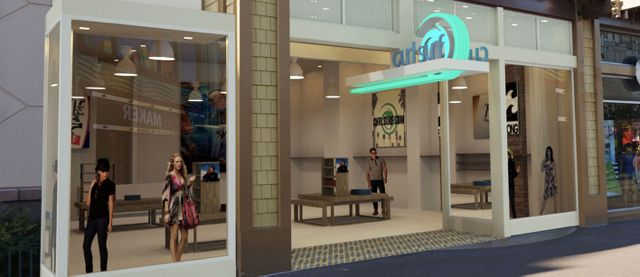 A rendering of the new Curl Surf store coming to Downtown Disney in Anaheim - Image courtesy of Curl