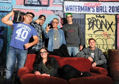 The Surfhardware team - the dress theme for the Waterman's Ball was 80's hip hop