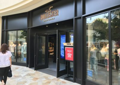 A Hollister store at the center