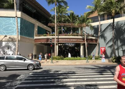 This is the front of the International Marketplace - no wonder the center is empty. Would you ever guess there is a large shopping center back there anchored by Saks Fifth Avenue?