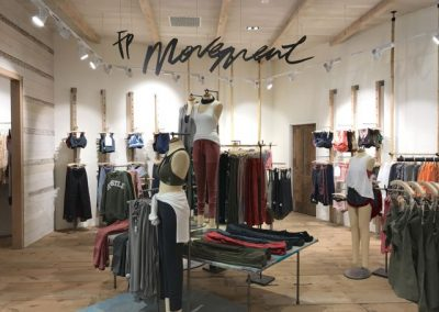 The larger store allows Free People to showcase its active offering