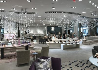 The lovely women's shoe department at Saks