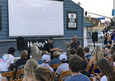 Taking questions from the audience at Hobie Dana Point