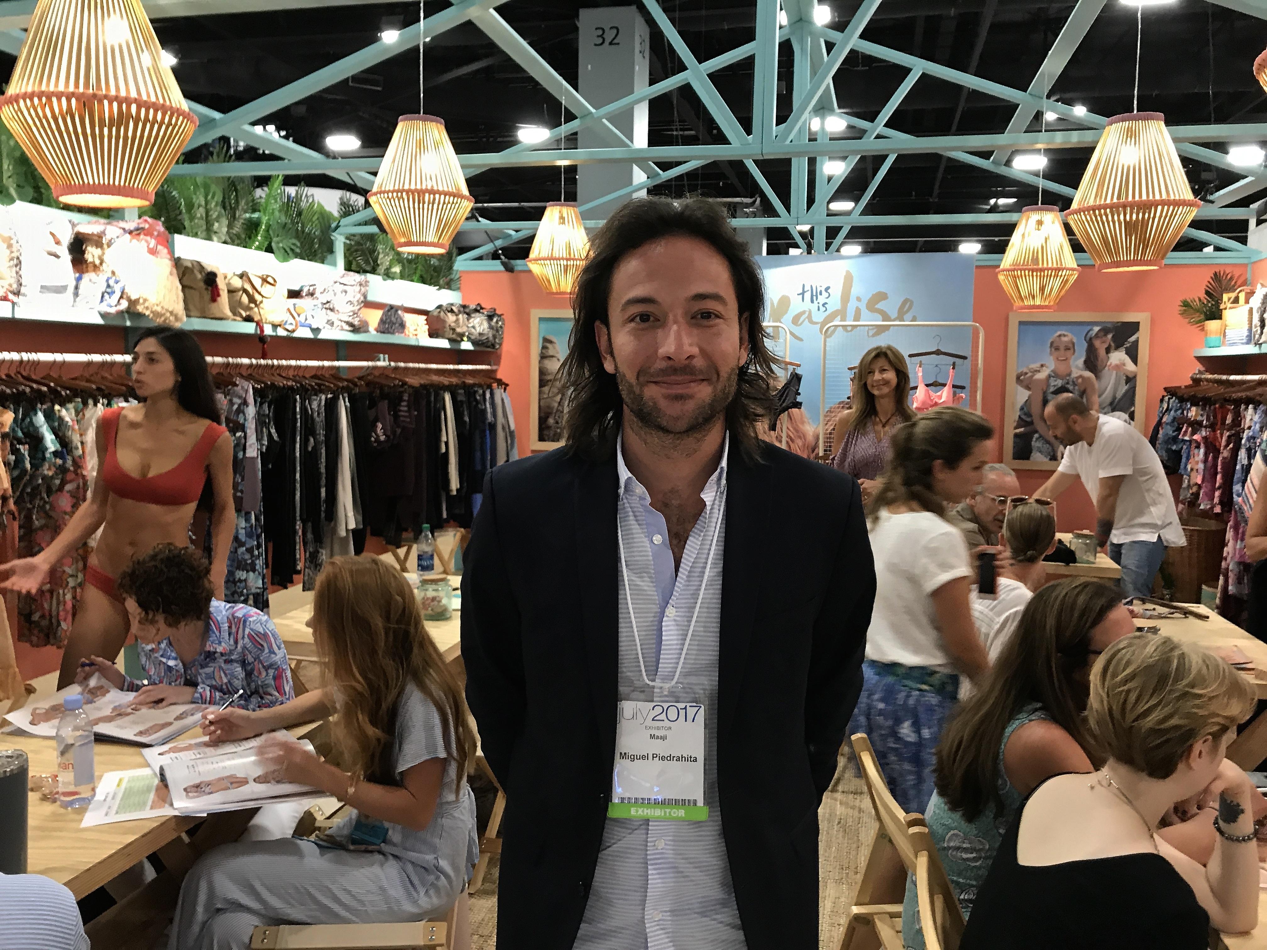 Maaji CEO Miguel Piedrahita at Miami SwimShow last week - Photo by SES