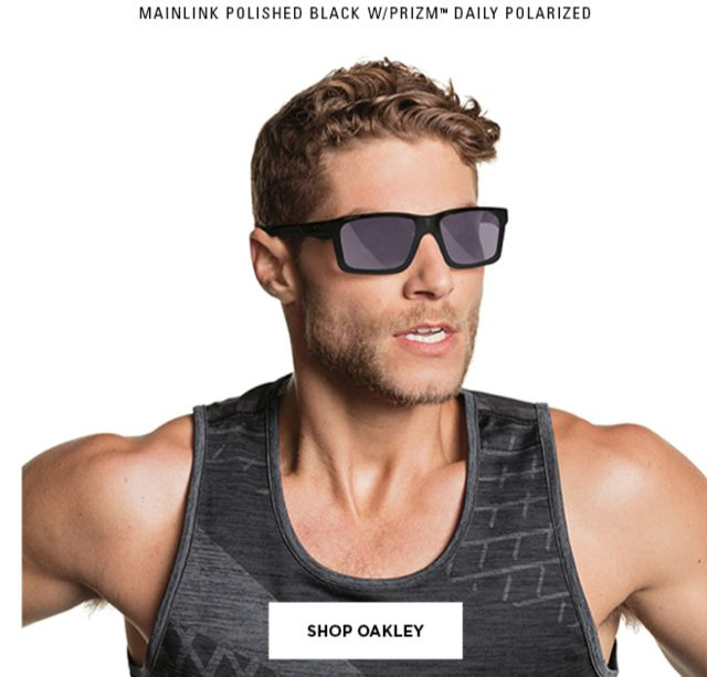 An image from the Kohl's email announcing Oakley is now sold at Kohl's