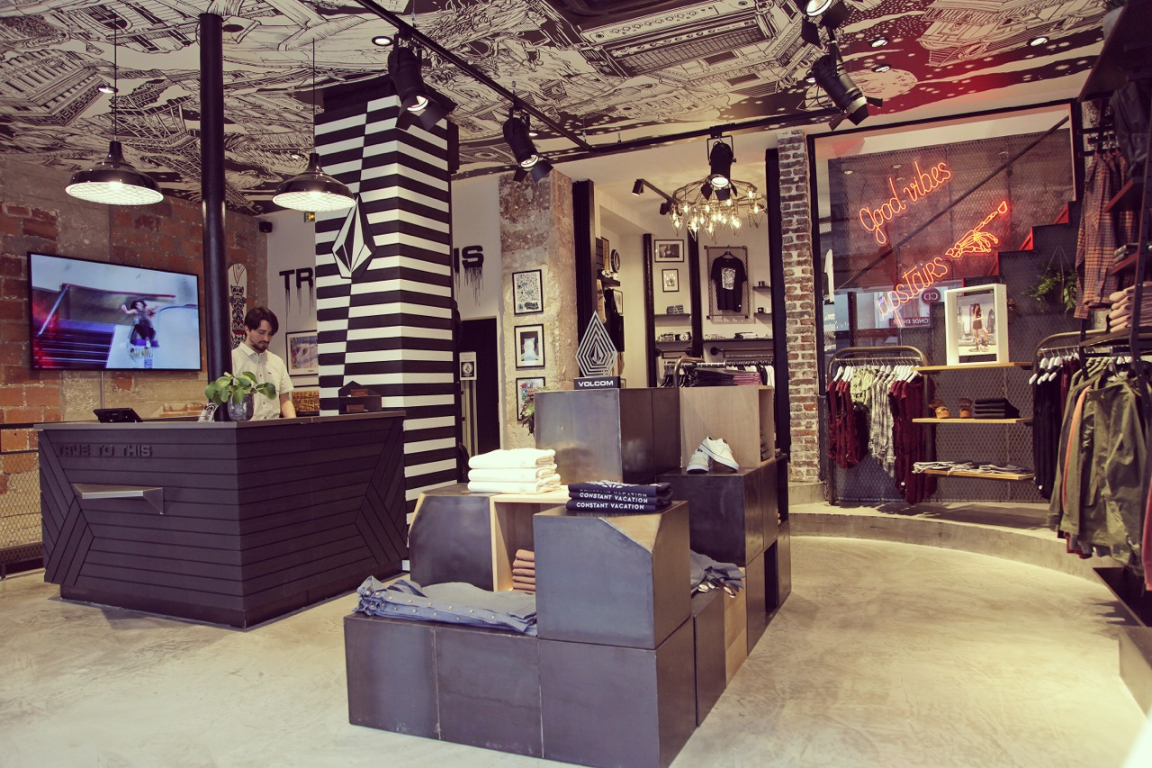 The new Volcom flagship store in Paris - Photo courtesy of Volcom