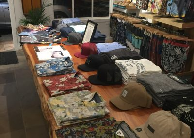 The Vissla table at the front of the store