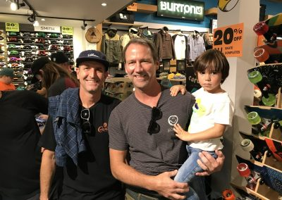 Brent Lantz of Volcom and Kevin Meehan of RVCA with son