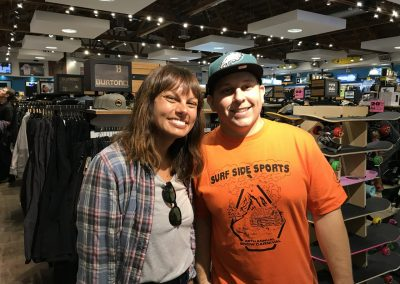 Latisha Tavarez of Roxy and Joe Edukas of Surfside