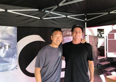 Ted Li and Benny Bigler of Quiksilver