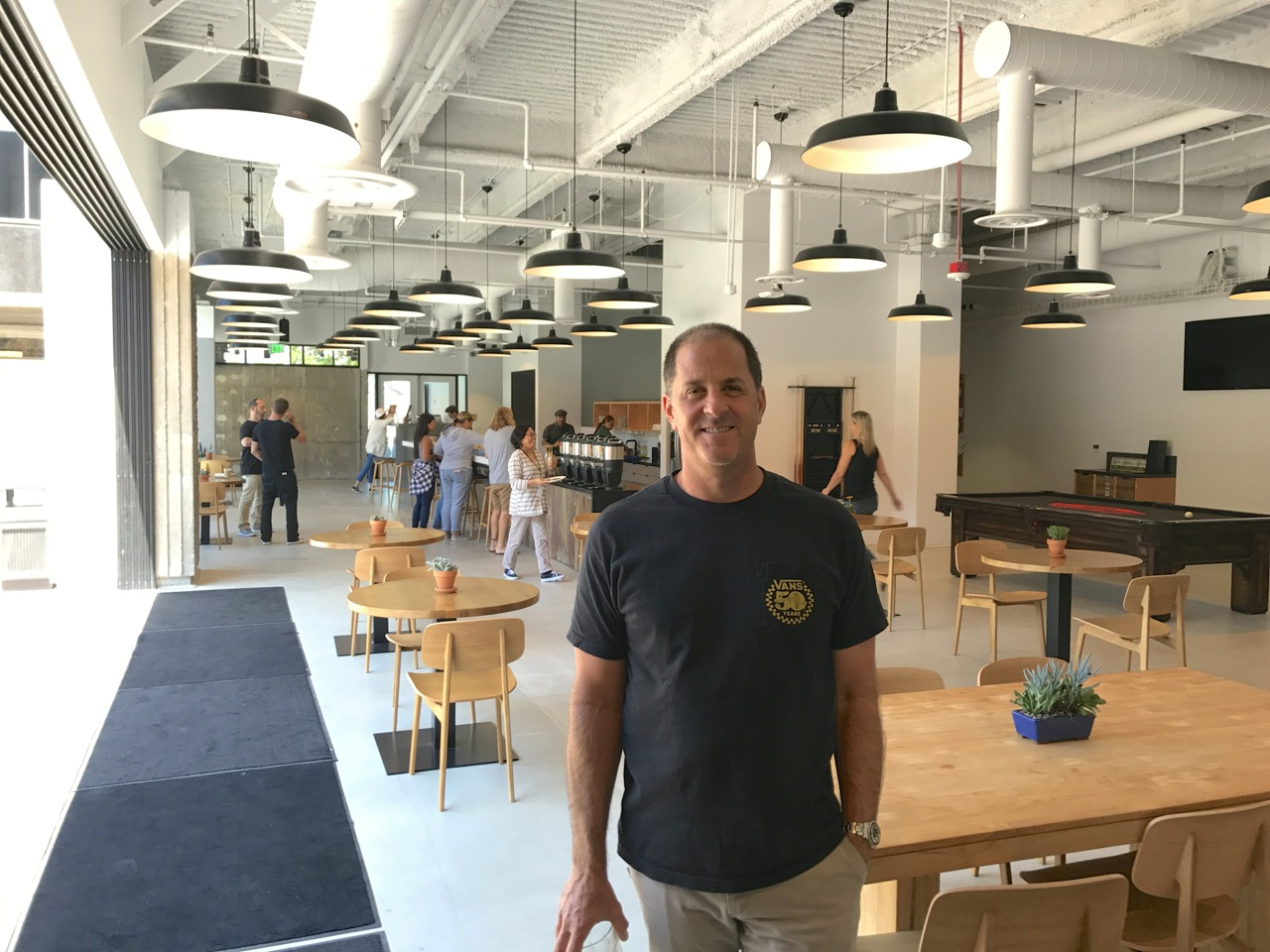 Vans President Doug Palladini in the company's new headquarters in Costa Mesa - Photo by SES