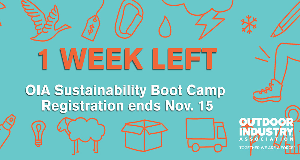 One Week to Register for OIA Sustainability Boot Camp