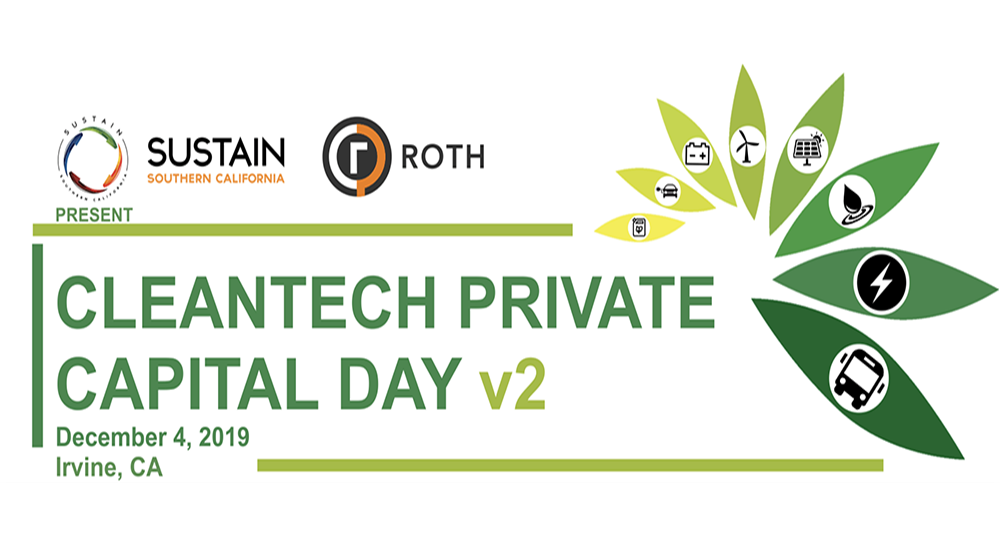 ROTH & Sustain SoCal to Host Cleantech Private Capital Day v2