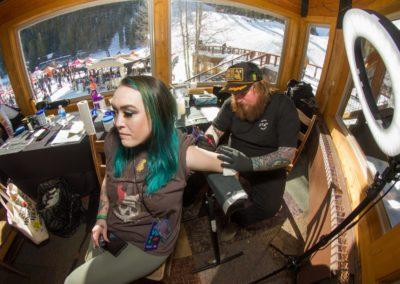 1 Seller Aubrey Peterson getting a tattoo 3