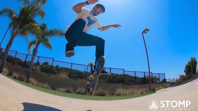 4. Stomp Session Skateboarding Side by Side video analysis cover pic Chris Cole