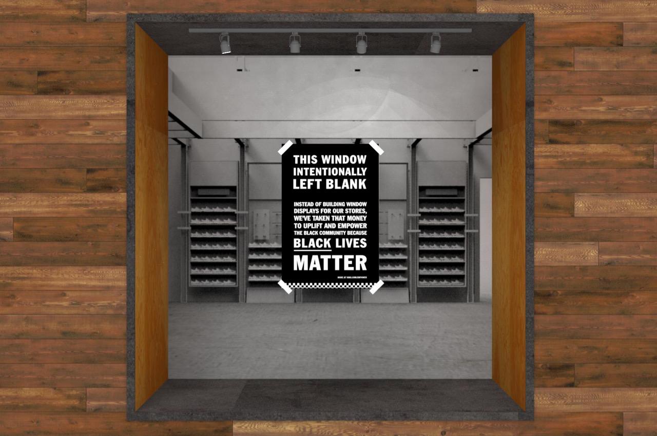 Vans retail blacklivesmatter