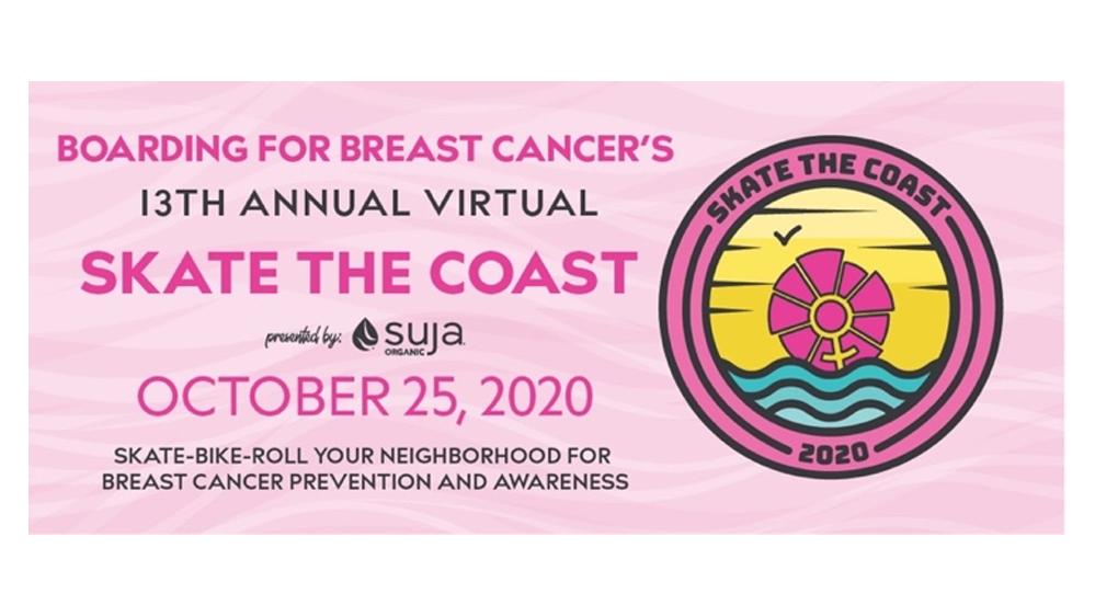 Boarding for Breast Cancer Announces 13th Annual Virtual Skate the Coast