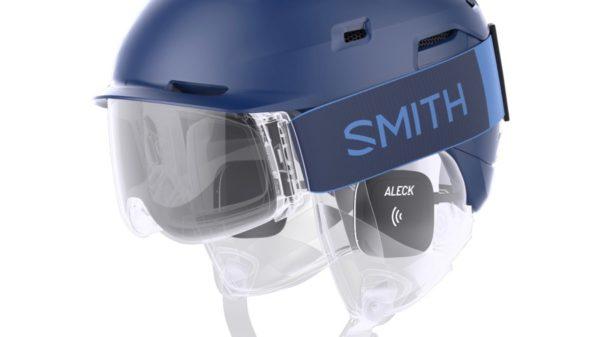 Wireless Smith x Aleck 006 in helmet