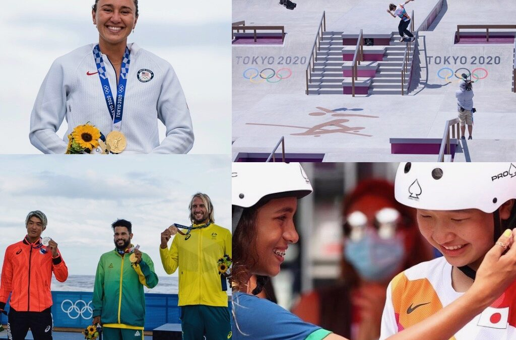 Skateboarding and Surfing Make Mark on Olympic Stage